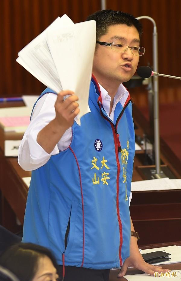 台北市議員徐弘庭。(資料照,記者簡榮豐攝)
