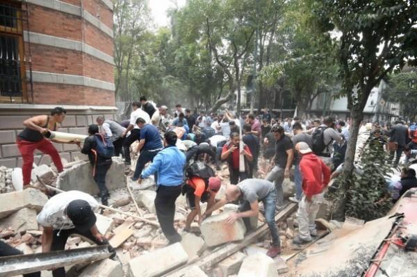 墨西哥發生規模7.1強震,造成重大傷亡。(取自《華盛頓郵報》)