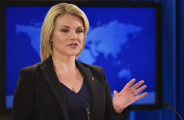 現任國務院發言人諾爾特(Heather Nauert)將轉任美國駐聯合國大使。(法新社)