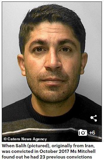 伊朗男子薩利赫(Sherzad Salih,見圖)戀上已婚且有3個小孩的英國媽媽米契爾(Lorraine Mitchell),瘋狂跟蹤對方10年。(圖擷取自《每日郵報》)