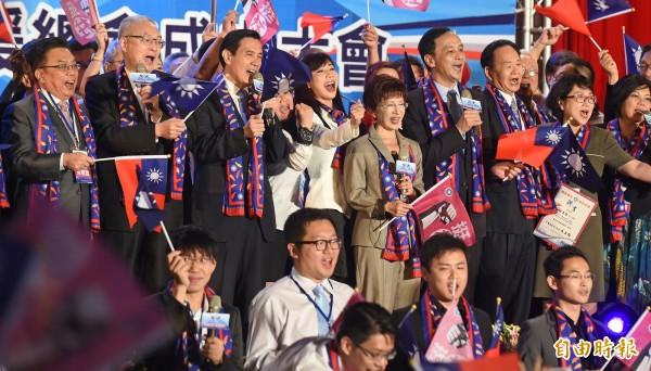 鈕則勳認為,過去一年台灣的政論節目收視下滑,可能和台灣選舉兩年才有一次大選、台灣選舉頻率下降有關。圖為國民黨日前成立「兩岸台商國民黨後援總會」。(資料照,記者劉信德攝)