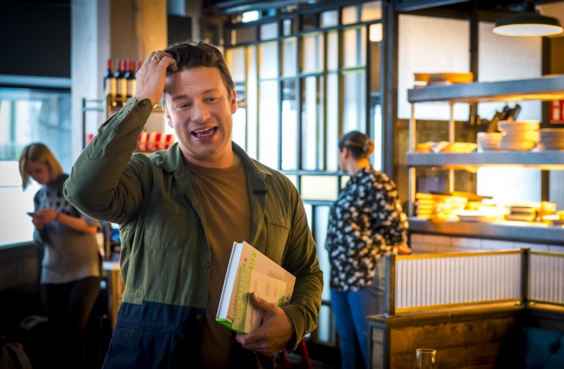 英國名廚傑米·奧利佛(Jamie Oliver)的連鎖餐飲帝國崩潰。(歐新社)