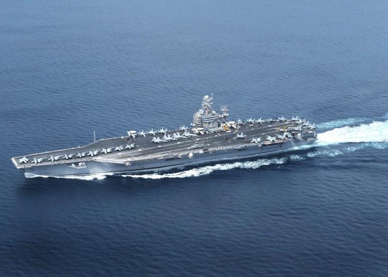 郭文貴日前指出,美國將讓航空母艦通過台灣海峽,以威懾中國。昨日他再度爆料,美國對台灣還有更大動作,相對之下,讓航母通過台灣海峽、美國高官訪台將顯得是件小事。(歐新社)