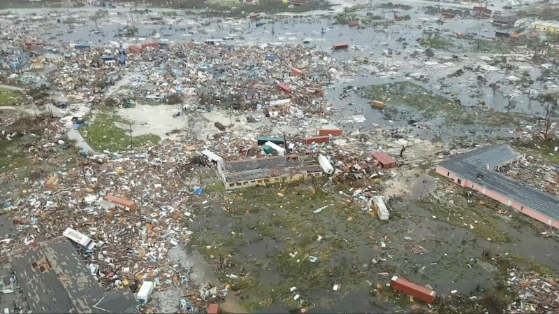 颶風多利安造成慘重災情。(彭博)