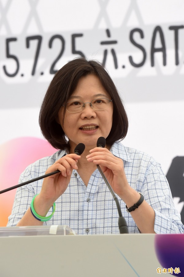 民進黨總統參選人蔡英文。(資料照,記者簡榮豐攝)