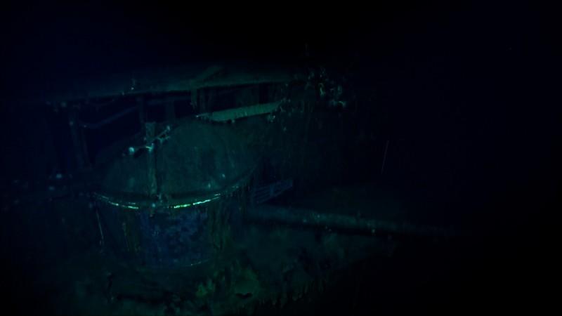 「加賀號」主砲殘骸。(圖擷自臉書「RV Petrel」)