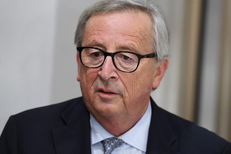 歐盟執委會主席容克(Jean-Claude Juncker)表示,這次是歐盟有史以來最大規模的貿易協議。(法新社)