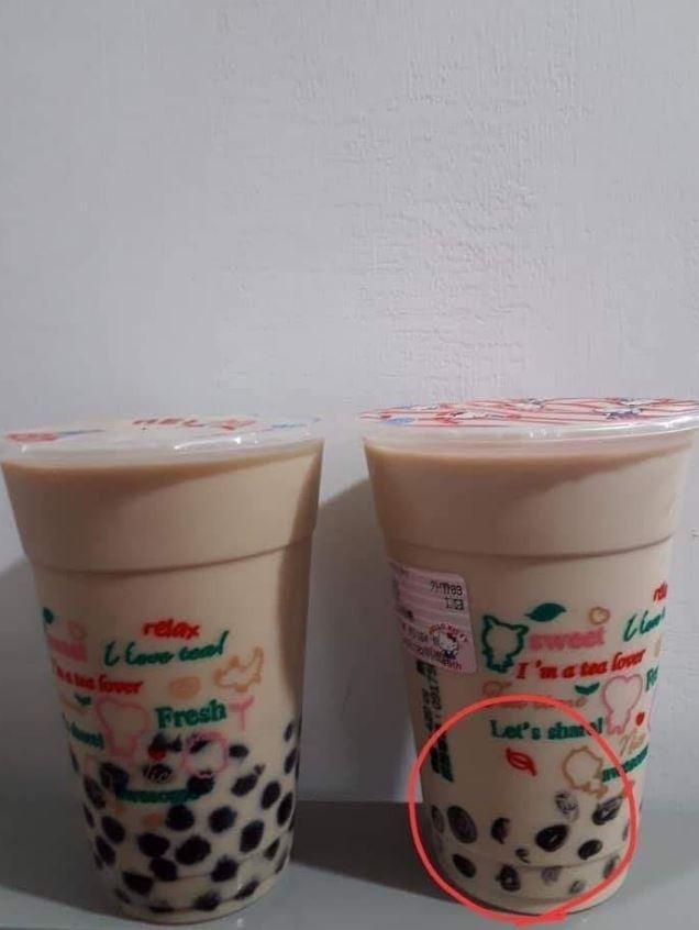 1名網友在臉書社團《爆怨公社》發文表示,「請隊友幫忙買杯珍珠奶茶,打算下班回到家慰勞自己一週的辛苦,但是你媽的,我的珍珠咧?」(圖擷自臉書)