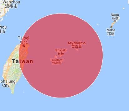 日本石垣島若部署新型導彈,射程可涵蓋台灣。(圖擷自Alert5網站)