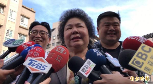 總統府秘書長陳菊向蔡英文總統口頭請辭職務。(記者黃良傑攝)