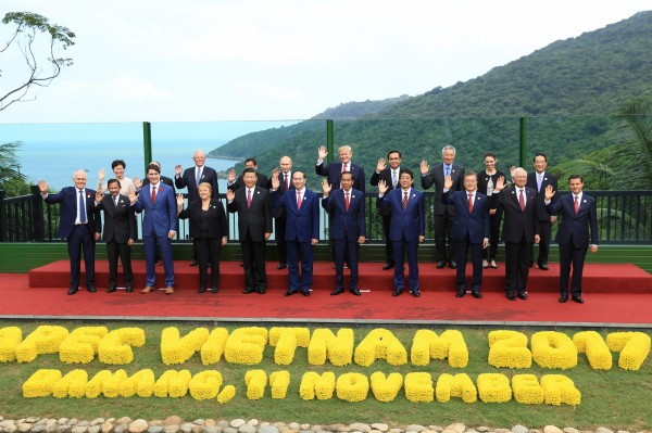 APEC峴港宣言達成共識,將TPP改稱「跨太平洋夥伴全面進展協定」(CPTPP)。(路透)