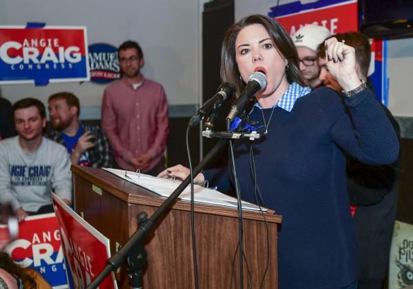 美眾院女議員達95席寫下歷史,圖為民主黨的克萊格(Angie Craig)進軍眾議院。(歐新社)
