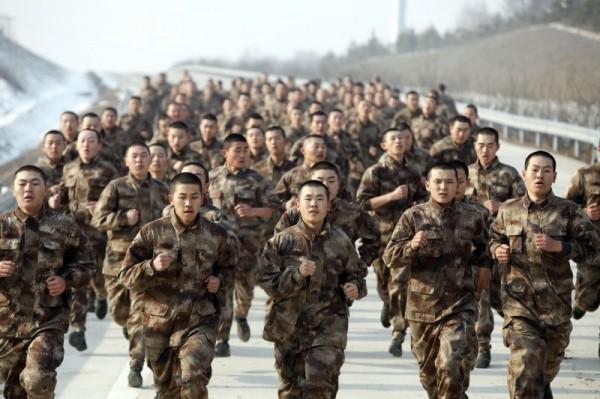 中國解放軍。(美聯社)