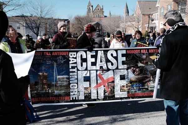 美國巴爾的摩連續11天沒有兇殺案,倡議「巴爾的摩停火」的當地民眾欣喜若狂。(法新社)