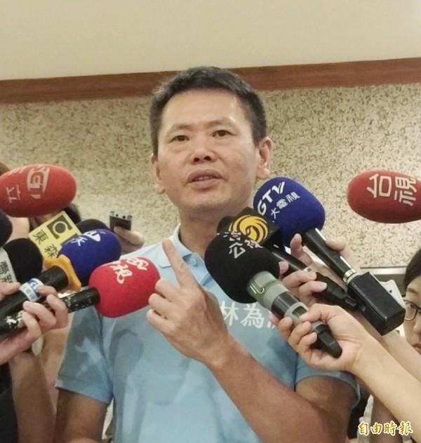 國民黨聲稱,林為洲若再放話參選黨紀大刀將出鞘。(資料照)