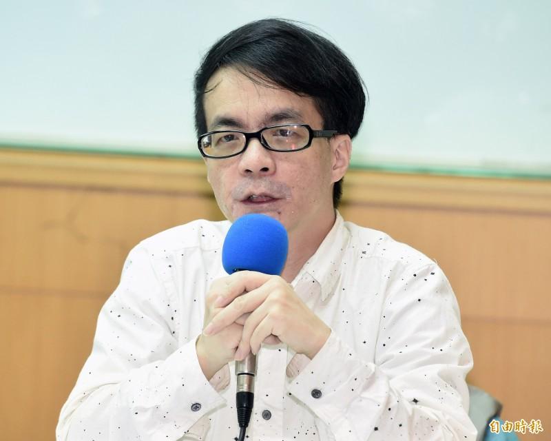 成功大學政治學系教授梁文韜。(記者廖振輝攝)