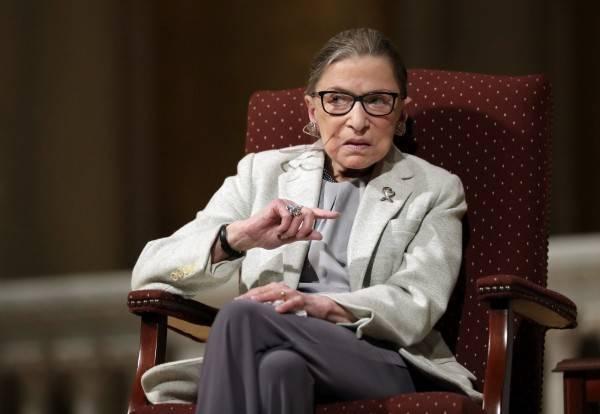 美國自由派大法官金斯伯格(Ruth Bader Ginsburg),在18日晚間病逝,享壽87歲。(美聯社)