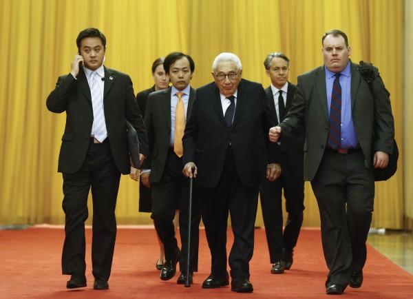 95歲高齡的美國前國務卿季辛吉昨晚第六度造訪北京大學,並與學生座談。(歐新社資料照)