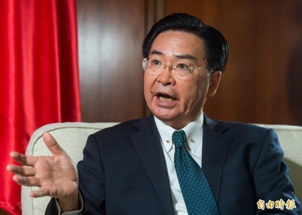 外交部長接受《美國之音》專訪指出,對中國強硬是因為有責任表達台灣人民立場。(資料照)