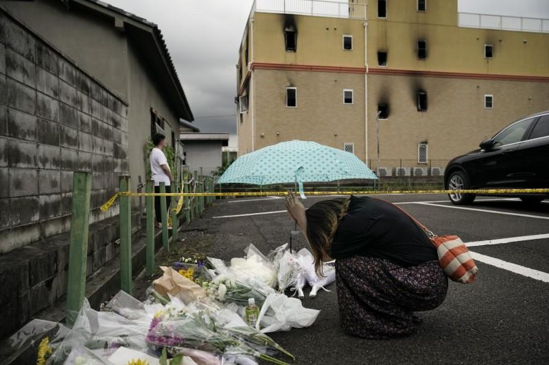 釀35死34傷的「京都動畫縱火案」已屆滿一個月。(美聯社)