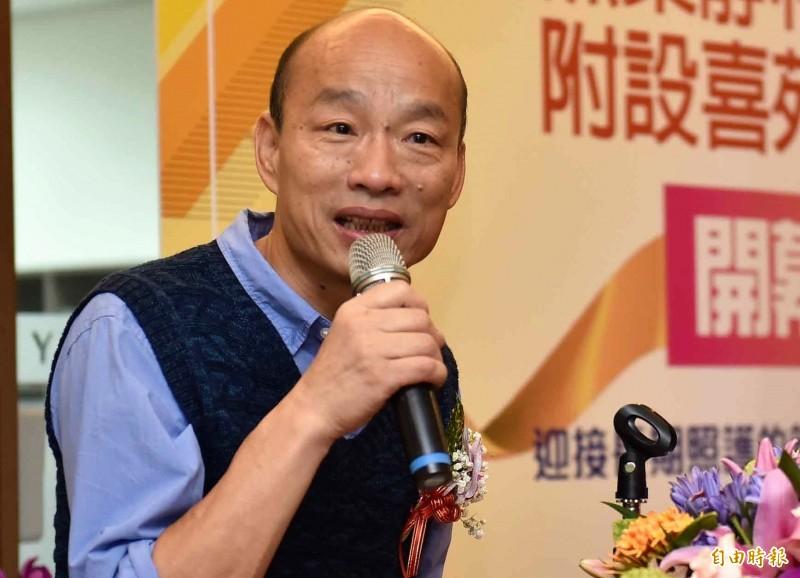 高雄市長韓國幾個造勢場合的聲勢越來越低。(記者侯承旭翻攝)
