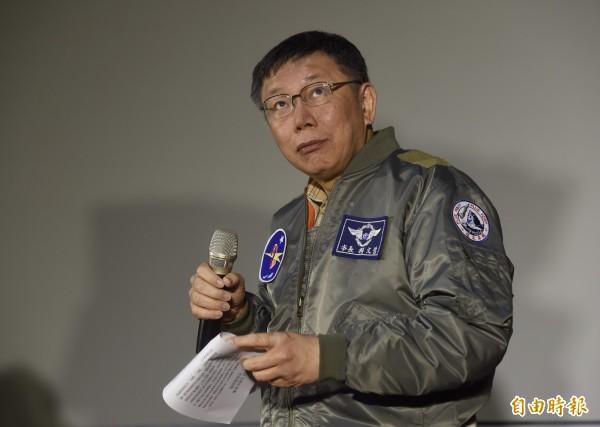 《三立新聞》民調指出,台北市長柯文哲在年底台北市長選戰中,支持度「笑傲江湖」。(資料照)