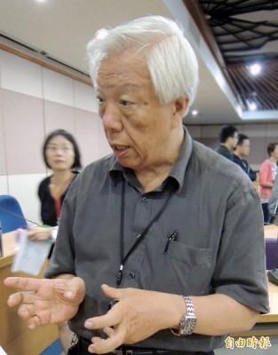 中研院社會所研究員瞿海源表示,1984年中研院在做台灣社會變遷調查計畫時,林佳龍都還沒念大學。(資料照,記者湯佳玲攝)