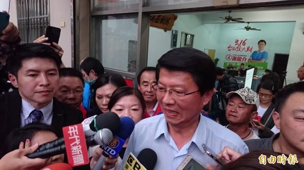 謝龍介酸前行政院長賴清德,「民主聖地都不輪替,怎麼會是民主?」(記者楊金城攝)