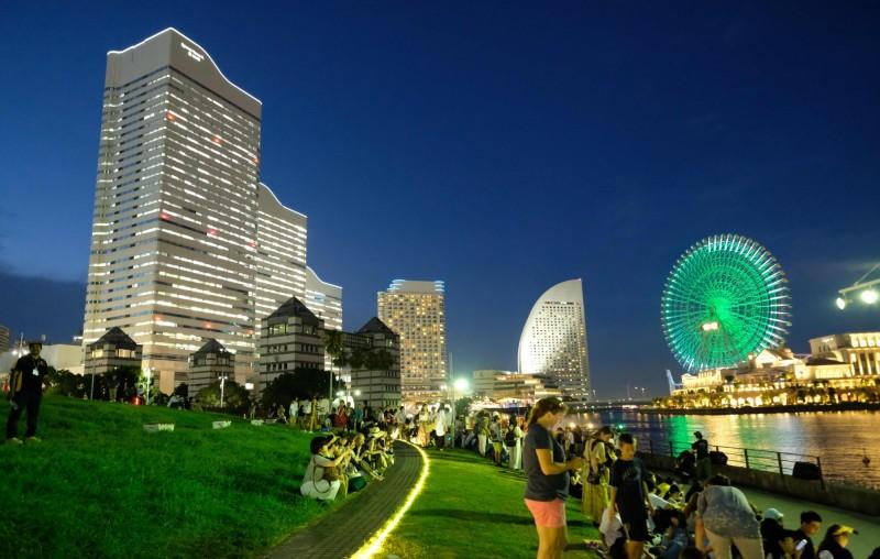 日本去年通過賭場法,允許國內最多建3座賭場,日本第2大城橫濱市週四(22日)宣布要角逐名額,並預計在2025年後開業。(法新社)