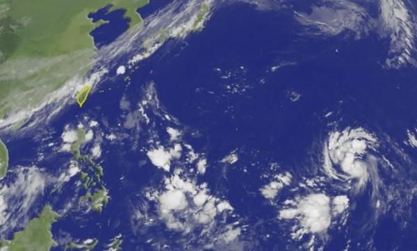 美國氣象專家傑森.尼科爾斯指出,山竹颱風本月15日或16日恐衝擊台灣。(圖擷取自中央氣象局)