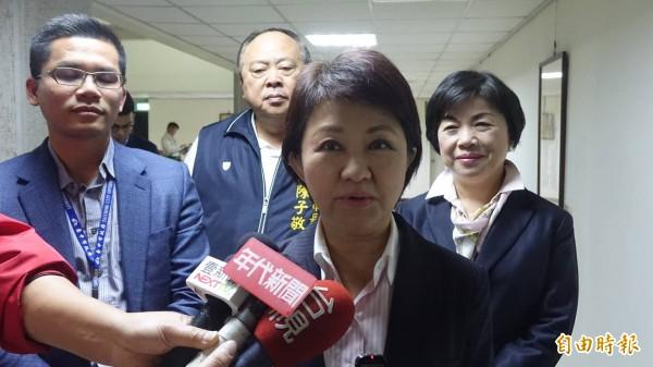 市長盧秀燕親自回應AIPH一事。(記者廖耀東攝)