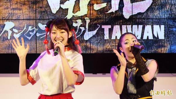 戰國降臨少女每個成員都能歌、能演、能打。(記者叢昌瑾攝)