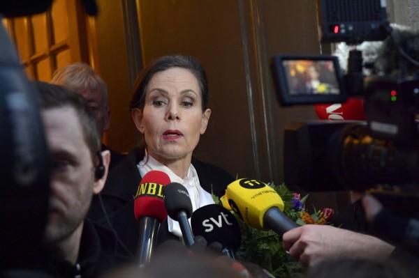 瑞典學院捲入性侵風波,常務祕書戴紐斯決定辭職。(歐新社)
