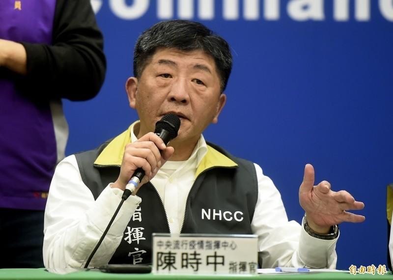 陳時中(見圖)表示,疾病進入社區傳播階段,專業來講須符合4要件,武漢肺炎尚未在台灣進入社區傳播階段。(資料照)