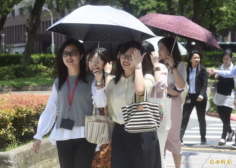 近日天氣炎熱,台北及板橋測站於今(20)日下午再度創下今年最高溫紀錄,提醒民眾外出務必防曬,注意中暑。(資料照)