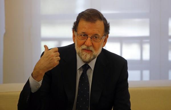 西班牙總理拉荷義指出,在加泰隆尼亞放棄推動獨立前,政府不會與對國家提出「殘忍勒索」的人進行談判。(美聯社)