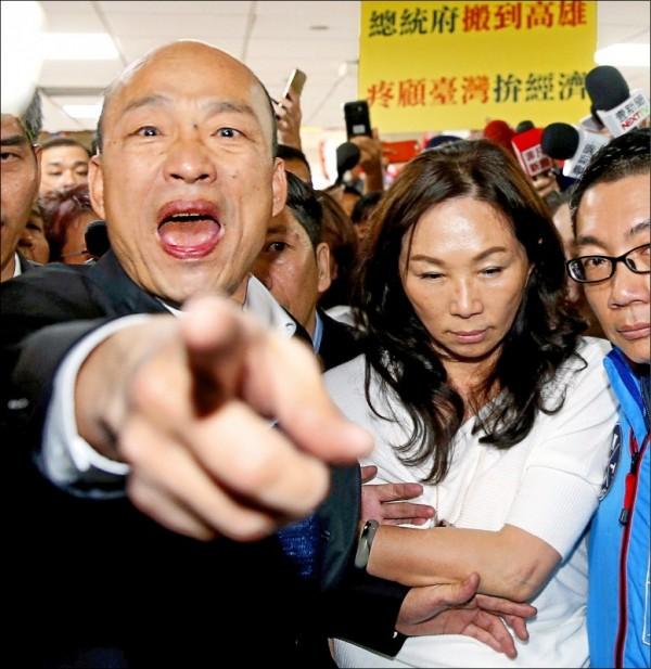 高雄市長韓國瑜昨指出,黨內現有4位優秀人士想參選總統,他不可能表態支持任何一位,希望大家好好表現,祝參選人心想事成。(圖:記者朱沛雄,文:記者朱沛雄、王榮祥)
