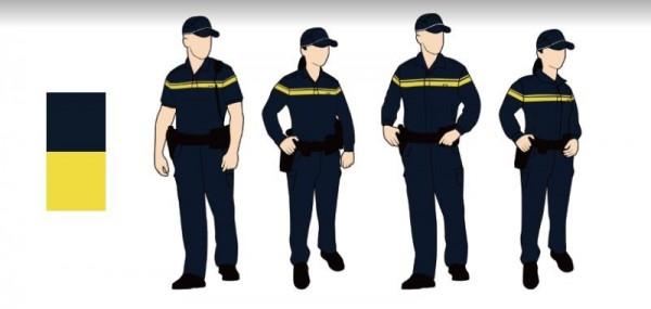 「舒適簡約型」以運動機能服飾發想,以便於員警值勤活動。(圖擷取自 NPA署長室)