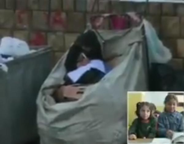 日前有網友在土耳其伊斯坦堡的街頭,拍到1名11歲的難民少女坐在垃圾堆中讀書,影片在網路上獲得廣大迴響。(圖擷取自推特)