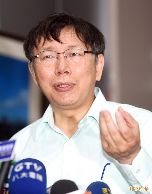針對國民黨籍台北市議員王鴻薇質疑台北市長柯文哲花4000萬裝潢北市府辦公室,柯文哲今出面駁斥。(資料照,記者方賓照攝)