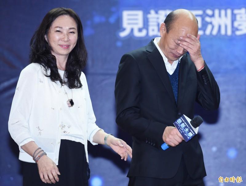 高雄市長韓國瑜與妻子李佳芬在雲林擁有豪華農舍被踢爆有違建後,李佳芬隨即迅速僱工拆除,但仍引發爭議不斷。(資料照)