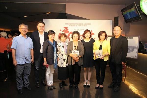 高雄市長陳菊昨(24)日出席《灣生回家》首映會。(擷取自陳菊臉書)