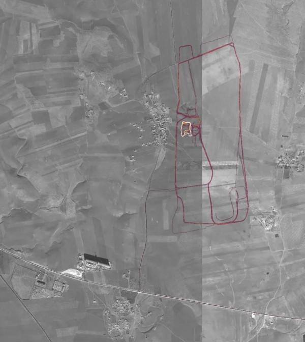 健身APP「Strava」能夠顯示用戶在運動時的路徑,軍事基地內部狀況卻可能因此曝光。圖為某座美軍基地。(圖擷自Nathan Ruser@Nrg8000推特)