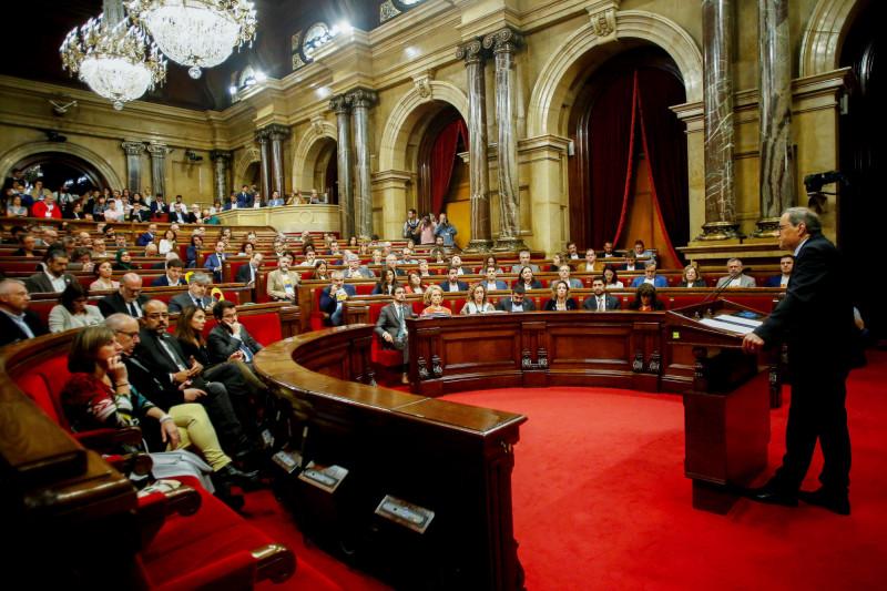 班牙加泰隆尼亞自治區主席托拉今天在加泰隆尼亞議會表示,將推動新的獨立公投。(歐新社)