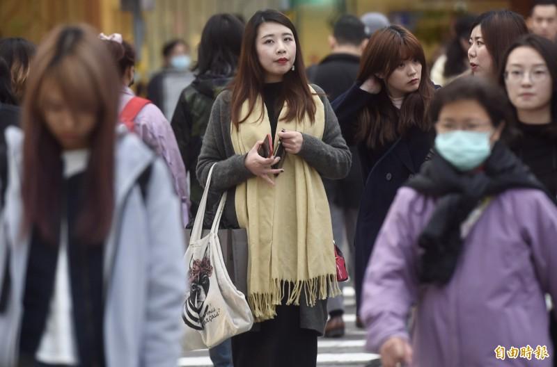 中央氣象局指出,今天(11日)清晨北台灣低溫約19、20度,感受偏涼。(資料照)