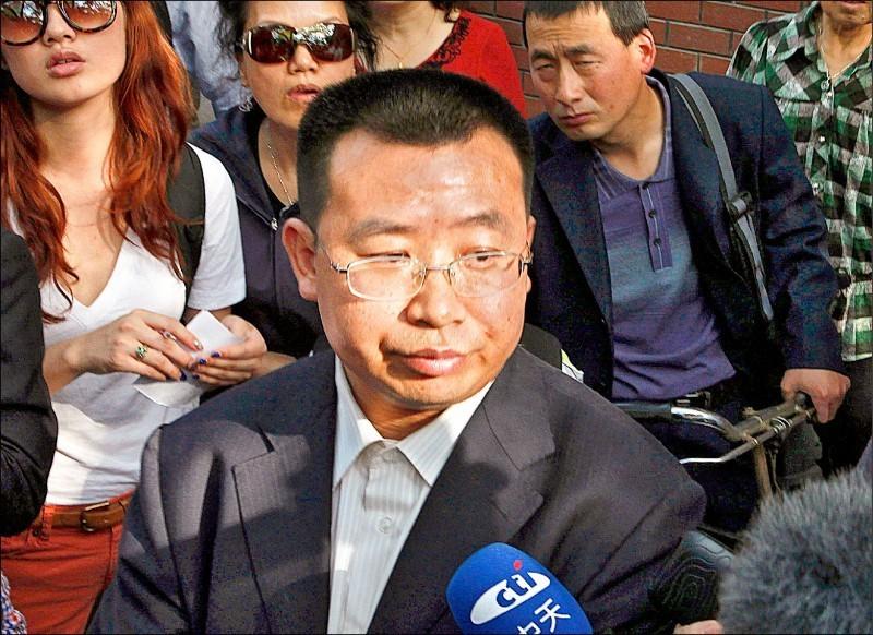 中國維權律師江天勇。(美聯社檔案照)