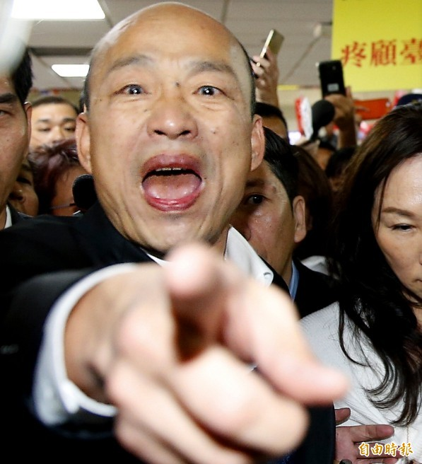 高雄市長韓國瑜今天在網路直播節目中對假韓粉火力全開,直言假韓粉如同空軍假想敵中隊。(資料照,記者朱沛雄攝)