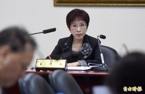 國民黨主席洪秀柱21日晚間在臉書發文,表示國民黨內沒有派系,只有「中華民國派」。(資料照,記者簡榮豐攝)