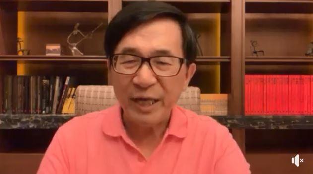 前總統陳水扁說,如果哪天他有什麼三長兩短,一定是「被自殺」。(圖擷取自臉書YonGe Chen)
