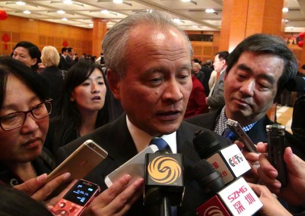 中國駐美大使崔天凱。(中央社)